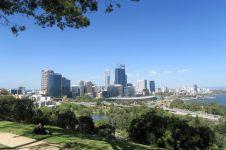 Vue sur la skyline de Perth depuis le King's park