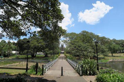 Vue sur la Sydney University depuis le parc Victoria