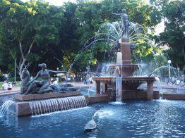 Fontaine dans Hyde Park à Sydney