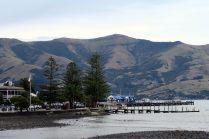 Vue sur le port d'Akaroa