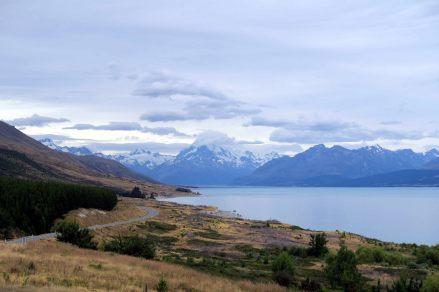 Sur la route vers le Mont Cook