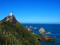 Le phare et les rochers à Nugget Point
