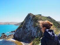 Impressionnante falaise... et beaucoup de vent !