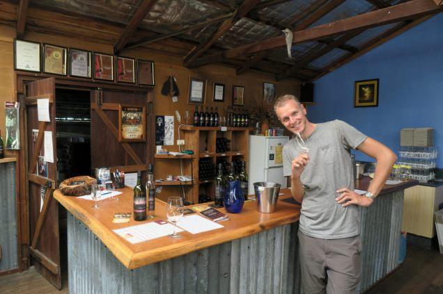 Dégustation de vin à la Pyramids Road winery