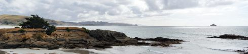 Panorama de la vue sur la mer (depuis le camping trouvé pour le soir à Brighton)