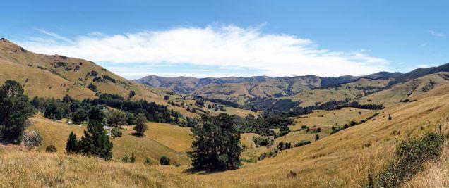 Panorama sur les montagnes de la péninsule de Banks