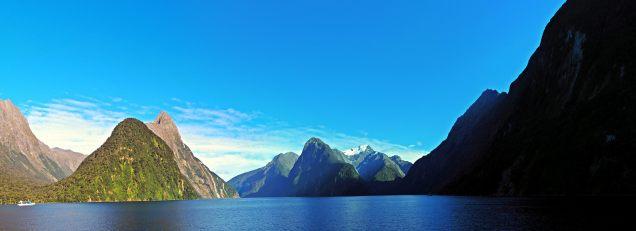 Panorama du fjord de Milford sound