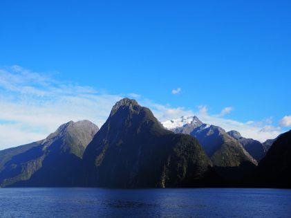 Vue sur le Mont Kimberley, fjord de Milford Sound