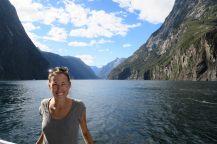 Elise à Milford Sound