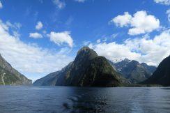 Vue sur le mont Kimberley à Milford Sound