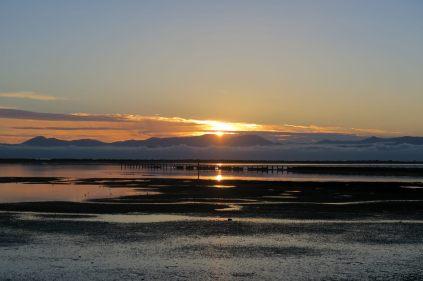 Coucher de soleil à Motueka