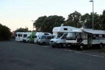 Notre lieu de camping pour la nuit, un parking dans Rotorua