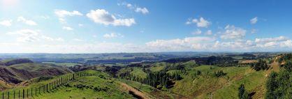 Panorama sur la route après Wellington, au Stormy Point