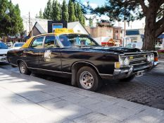 """Un taxi """"old timer"""" à El Calafate"""