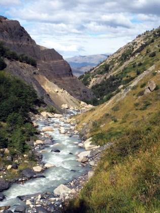 Randonnée vers la base des Torres, Parc National Torres Del Paine (chemin du retour)