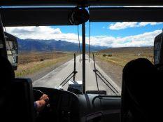 Paysage de Patagonie sur la route
