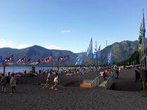 La plage au bord du lac Villarrica, Pucon