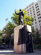 Statue de Eduardo Frei Montalva, president du Chili entre 1964 et 1970