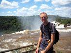 Julien aux chutes d'Iguazu, coté Argentin