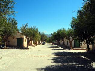Les rues de Molinos, toujours aussi désertes
