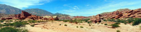 Panorama de la Quebrada de Las Conchas