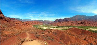 Panorama du mirador de Tres Cruces, Quebrada de Las Conchas