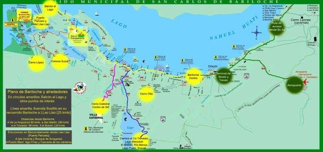 Carte de Baroliche et ses alentours