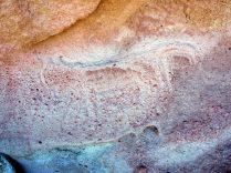 Pétroglyphes de Yerba Buena, un renard