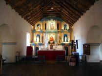 Eglise de San Pedro de Atacama, détail de la charpente en bois de cactus