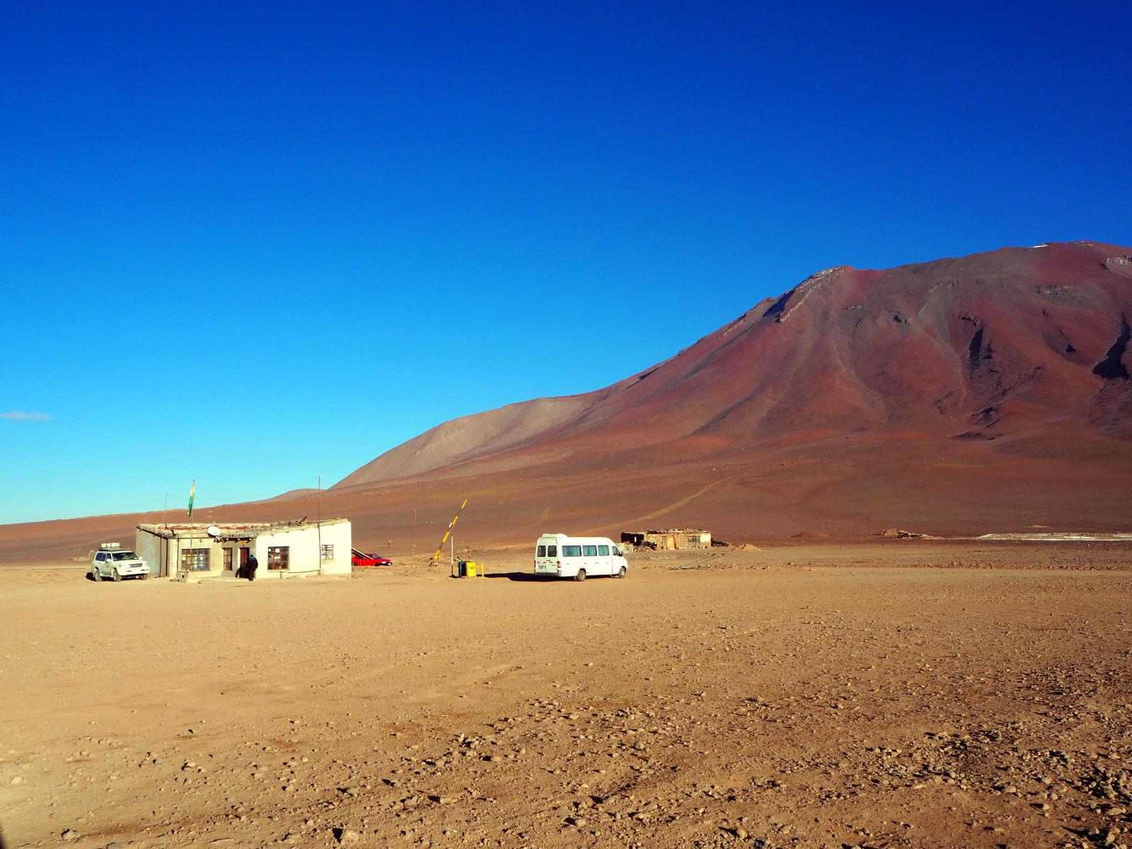 Le poste frontière coté Bolivie dans le Sud-Lipez