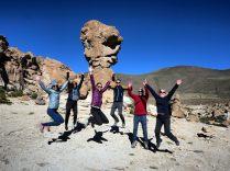 """Notre équipage devant le rocher """"copa del mundo"""""""