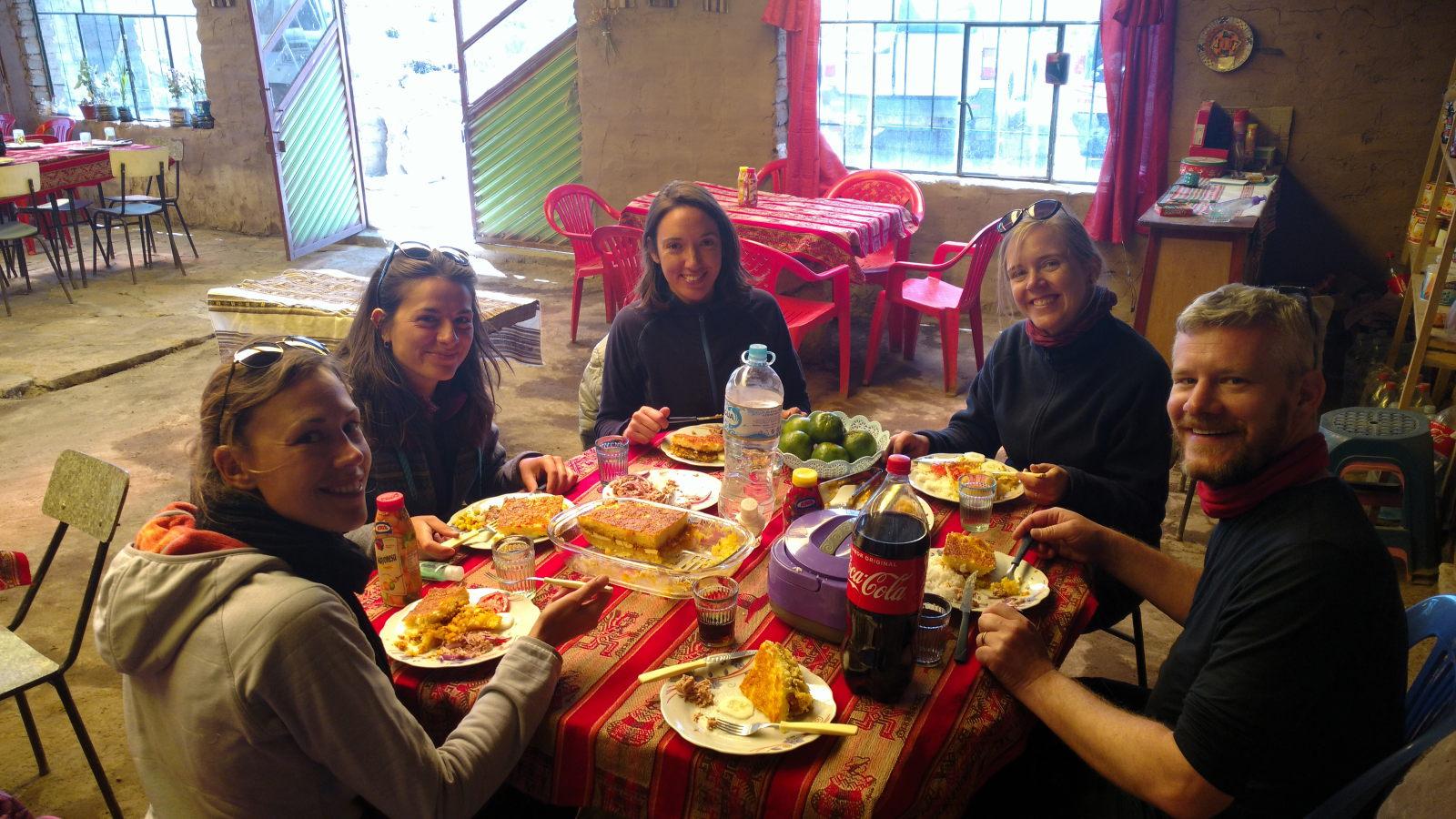Lors du repas du midi