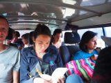 Dans le microbus en route vers Toro Toro