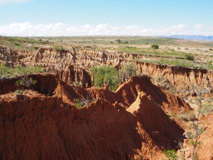 La boue (et on effritement) qui caractèrise bien le parc de Toro Toro