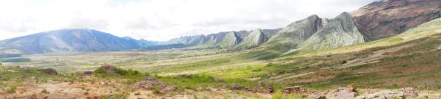 """Queue de diplodocus géologique"" au parc de Toro Toro (Panorama)"