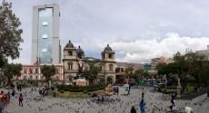 La cathédrale de La Paz, accolée au palais présidentiel, Plaza Murillo, La Paz