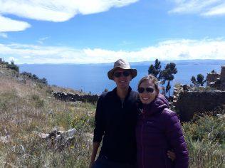 Elise et Julien sur l'Isla de la Luna, lac Titicaca
