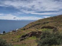 Ruines Inca sur l'Isla de la Luna, lac Titicaca