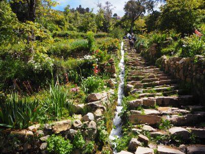 L'escalier Inca permettant d'accéder au sommet de l'Isla del Sol