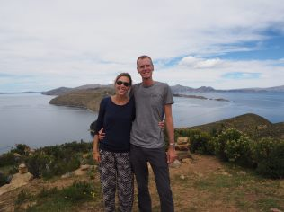 Elise et Julien en haut de l'Isla del Sol