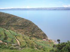 Utilisation de terrasses de culture, Isla del Sol