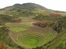 Vallée sacrée des Incas, site de Moray. Panorama