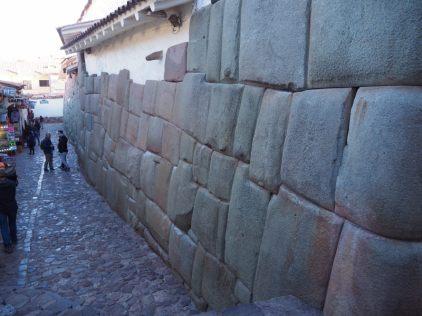 Fondations Inca dans les rues de Cuzco