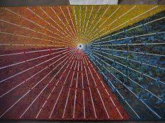 Oeuvre d'art représentant Cuzco comme centre de la vie Inca (et des 4 principales zones du monde Inca)