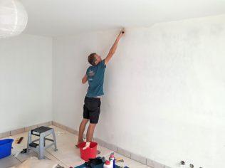 Une fois l'appartement trouvé, quelques travaux de tapisserie