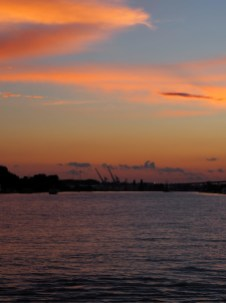 Nantes, coucher de soleil
