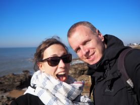 Selfie sur la côte altantique