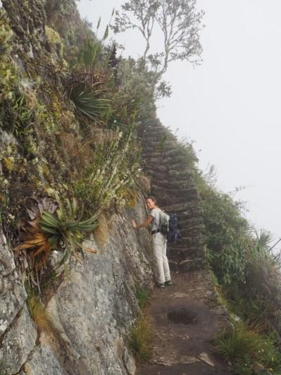 Elise prise de vertiges lors de la montée sur la Montana, Machu Picchu