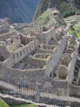 Détail de la zone urbaine de la cité inca du Machu Picchu