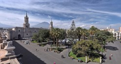 Panorama de la Plaza del arma, Arequipa